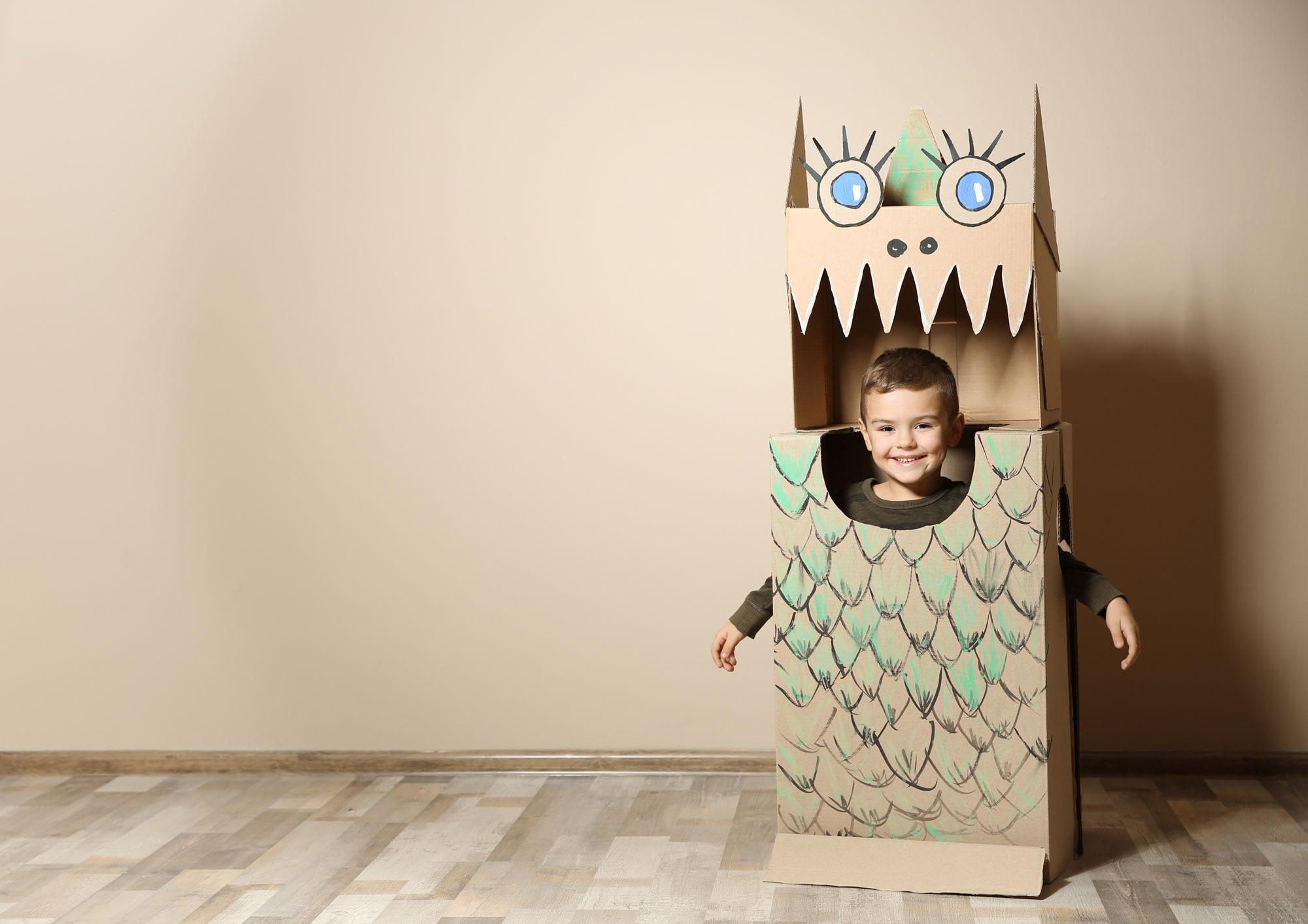Halloween cardboard monster
