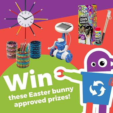 Enter Waste Wise Kids' Eggs-tra special Easter Recycling Competition!